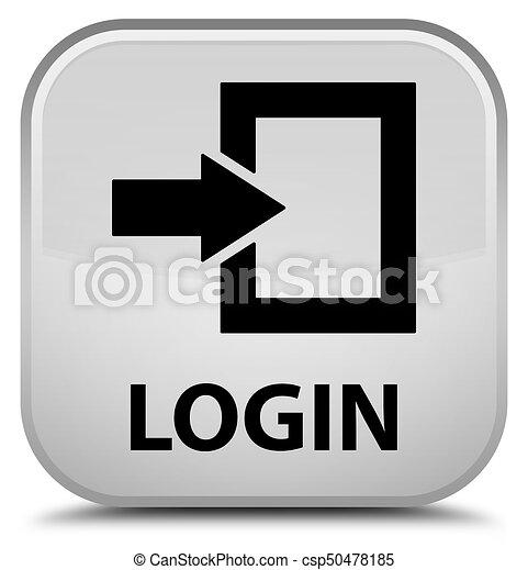 Login special white square button - csp50478185