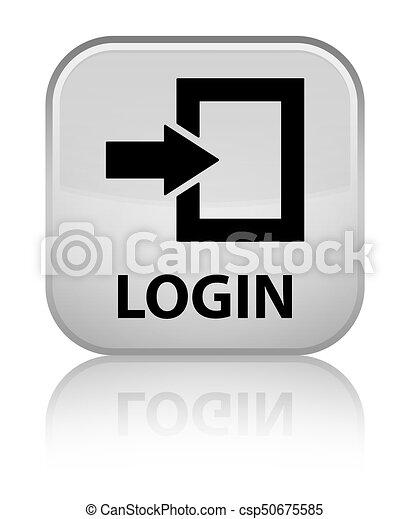 Login special white square button - csp50675585