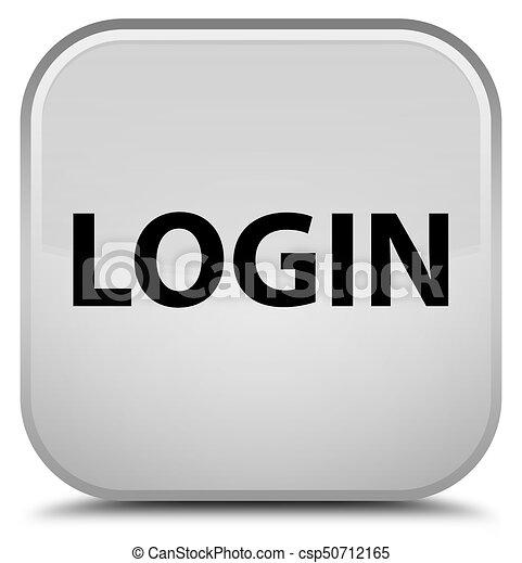 Login special white square button - csp50712165