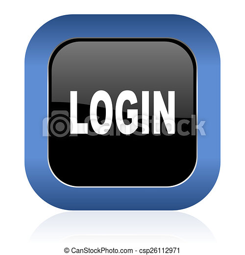 login square glossy icon - csp26112971
