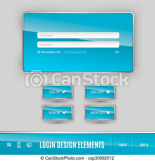 Login Template Set Of Member Login Template With Buttons Username