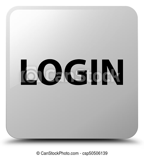 Login white square button - csp50506139