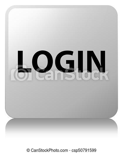 Login white square button - csp50791599