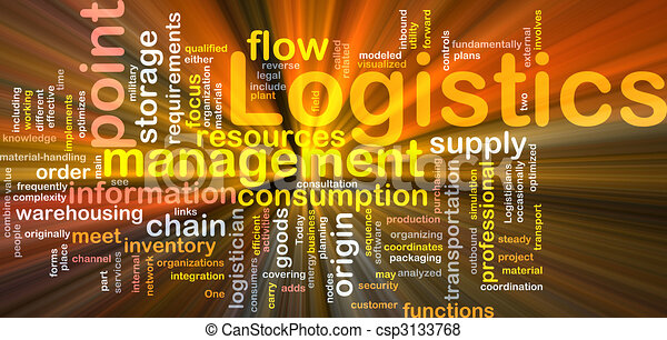 Logistik-Wort leuchtet - csp3133768
