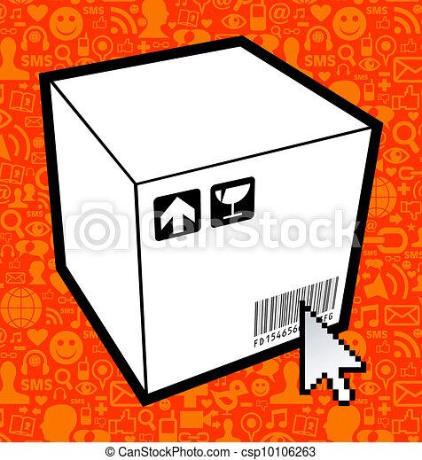 Logistic box icon - csp10106263