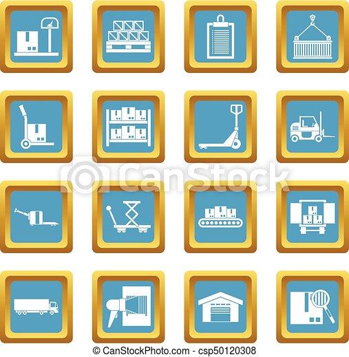 Logistic icons azure - csp50120308
