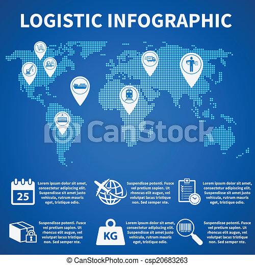 Logistic infographic icons - csp20683263