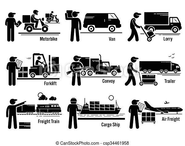 Logistic Transportation Vehicle Set - csp34461958