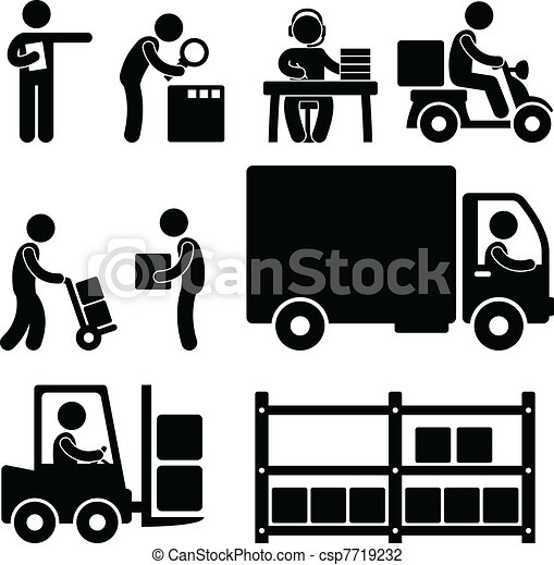 Logistic Warehouse Delivery Icon - csp7719232
