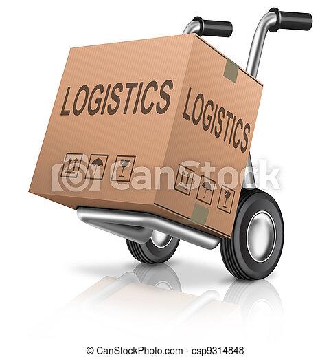 logistica, scatola, carboard - csp9314848