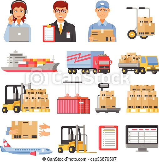 Logistics And Delivery Decorative Icons Set - csp36879507