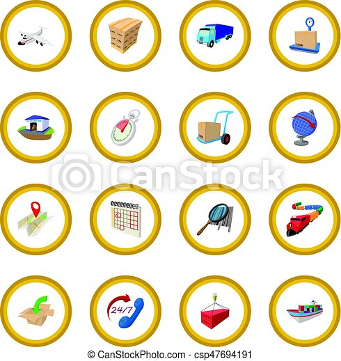 Logistics cartoon icon circle - csp47694191