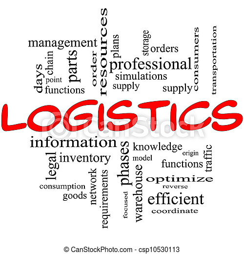 Logistics Concept in red and black - csp10530113