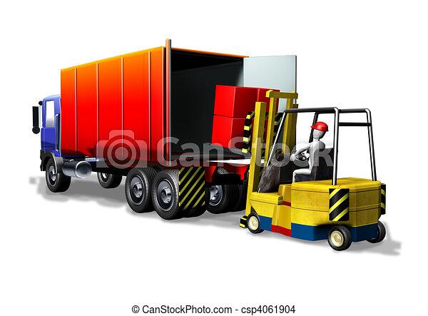 Logistics forklift truck - csp4061904