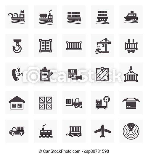logistics icon - csp30731598
