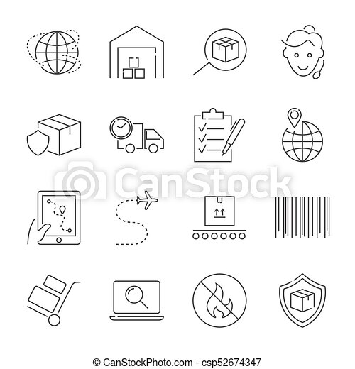 Logistics icons - csp52674347