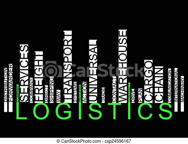 LOGISTICS text barcode - csp24596167