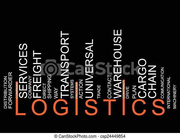 LOGISTICS text barcode - csp24449854