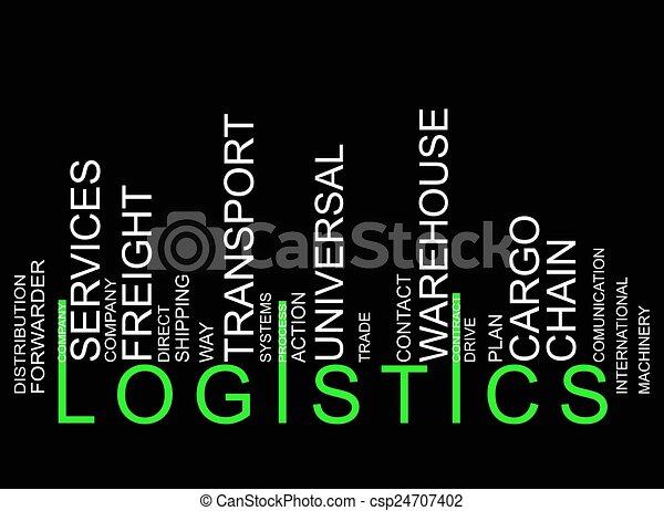 LOGISTICS text barcode - csp24707402
