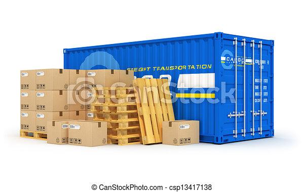 logistique, concept, cargaison, expédition - csp13417138