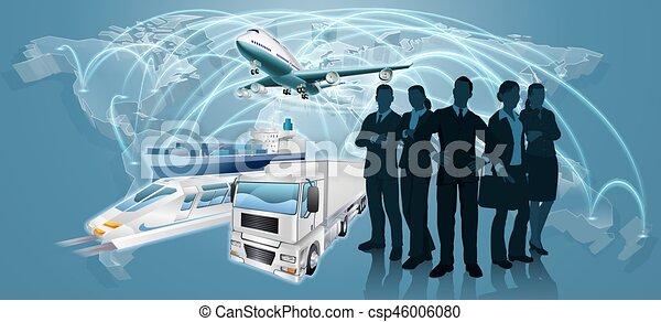 logistique, concept, equipe affaires - csp46006080