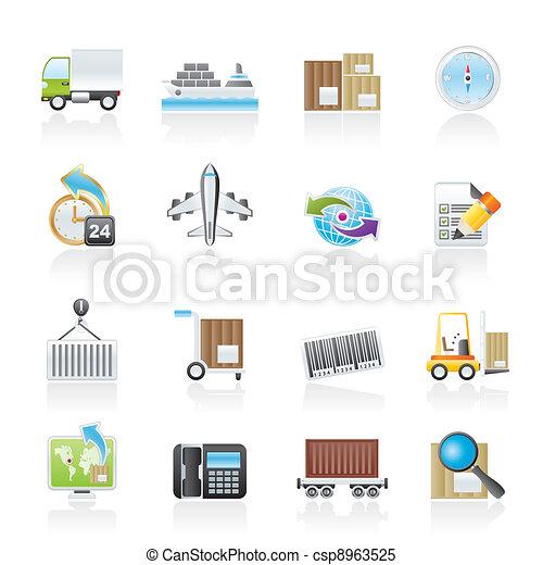 logistique, expédition, icônes - csp8963525