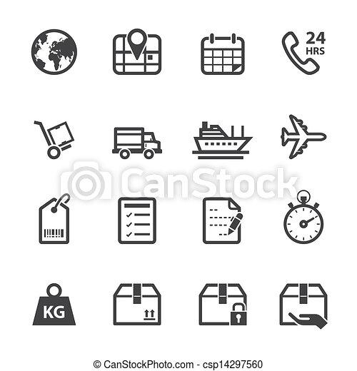 logistique, expédition, icônes - csp14297560