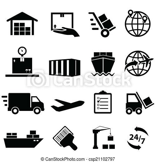 logistique, expédition, icônes - csp21102797
