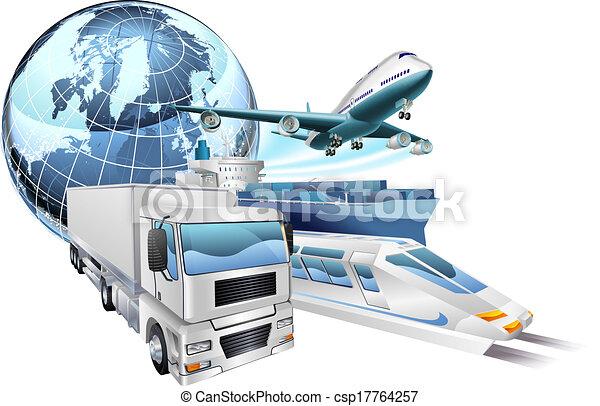 Logistique globe concept transport logistique ville for Salon transport et logistique