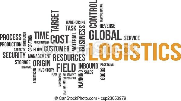 logistique, mot, -, nuage - csp23053979