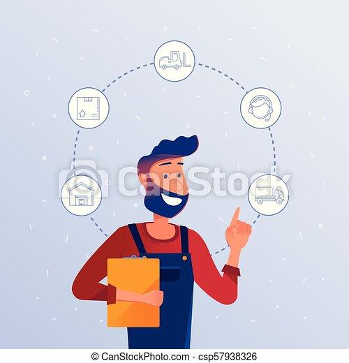 logistique, option., directeur, choisir, logisitics - csp57938326
