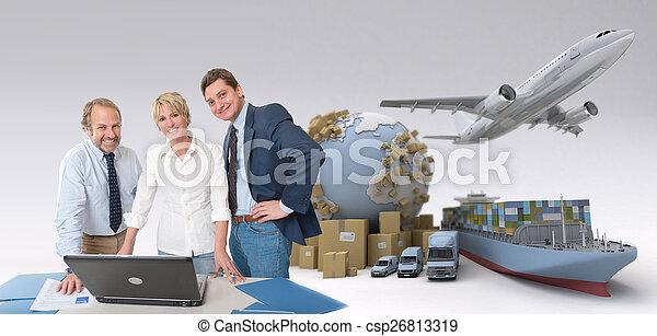 logistique, professionnels, global - csp26813319