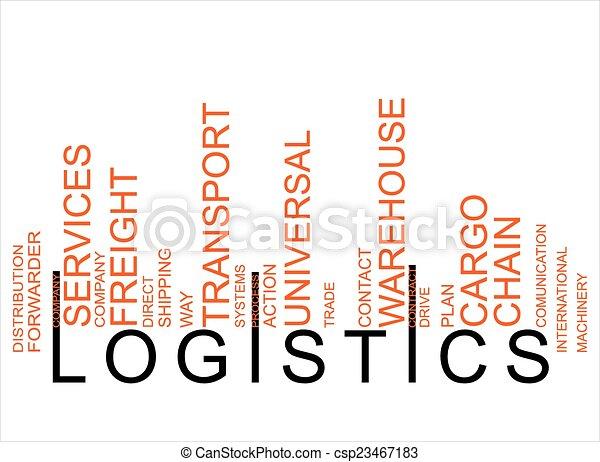 logistique, texte, barcode, coloré - csp23467183