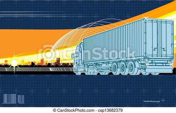 logistique, thème, fond - csp13682379