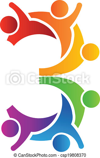 logo, 3, collaboration, nombre - csp19808370