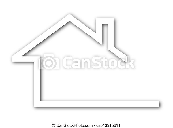 Logo - a house with a gable roof  - csp13915611