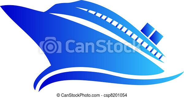 logo, bateau, ou, croisière - csp8201054