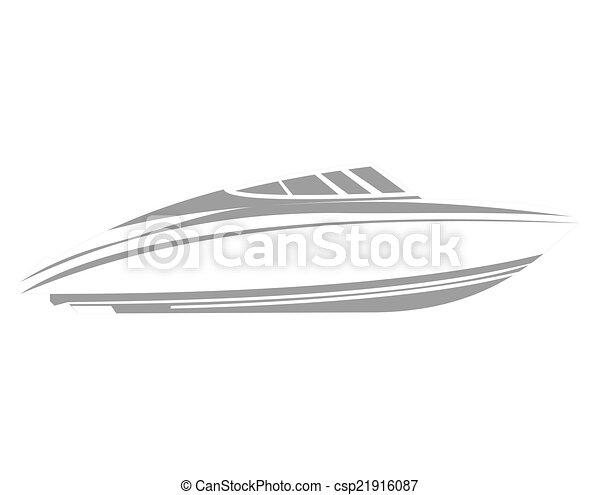 logo, bateau - csp21916087