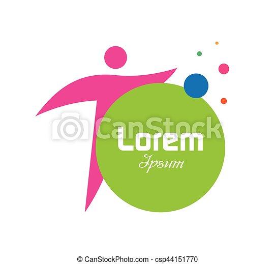 Logo Begriff Person Begriff Text Person Logo Kreis Rotes
