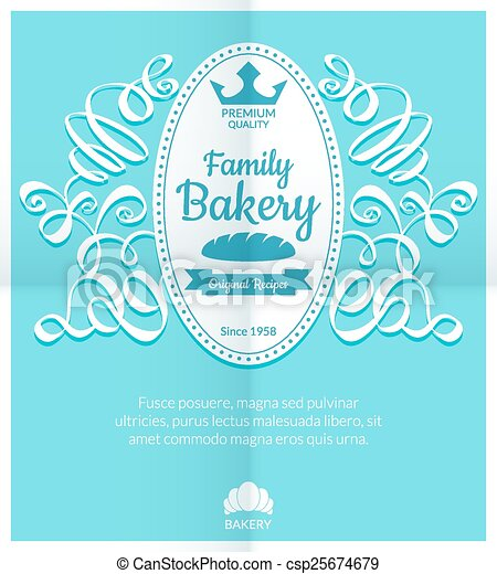 Carte Boulangerie.Logo Boulangerie Retro Carte Etiquette Prime Illustration