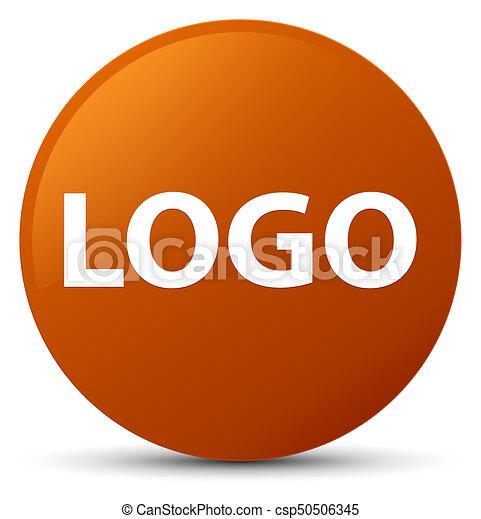 Logo brown round button - csp50506345