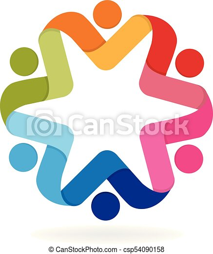 logo business people icon teamwork people holding hands clipart rh canstockphoto com people icon vector png