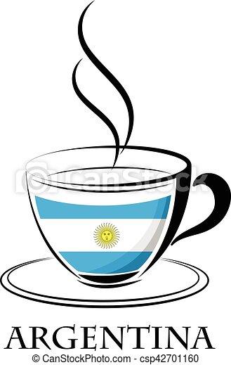 logo, café, fait, argentina signalent - csp42701160