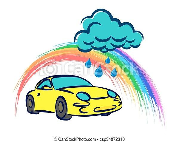 logo car wash a logo of car wash with rainy cloud vector clip art rh canstockphoto ca car wash clip art images car wash clip art pictures