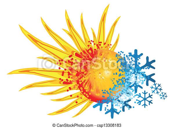 logo, chaud, froid - csp13308183