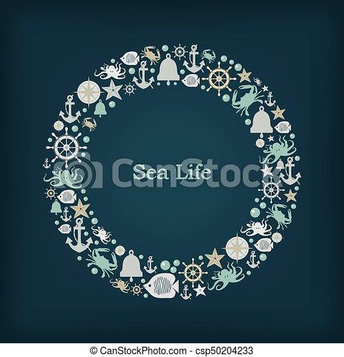 Logo circle nautical theme - csp50204233