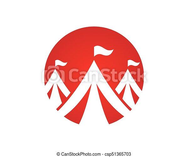 Logo, cirkus, mall, tält. Illustration., cirkus, vektor