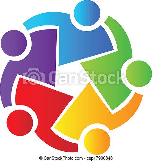logo, collaboration, professionnels - csp17900848
