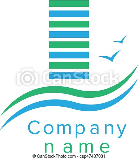 logo, compagnie, construction - csp47437031