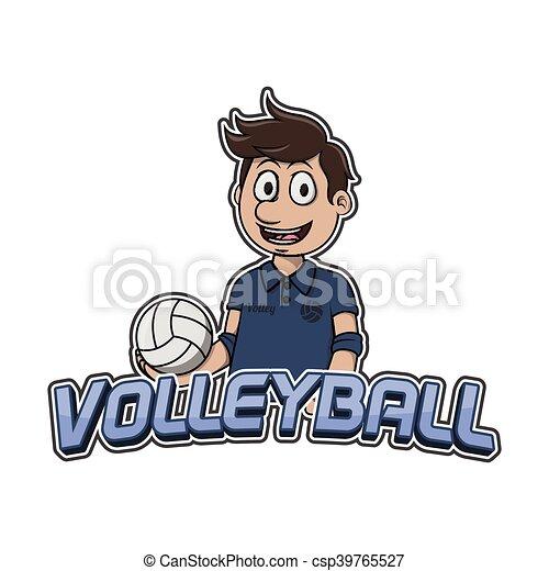 logo, conception, volley-ball, illustration - csp39765527